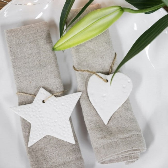 White Rustic Hanging Star