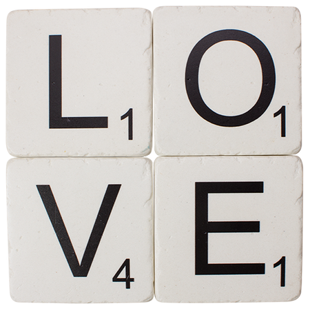 Scrabble LOVE Coasters