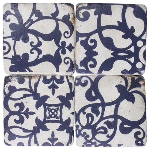 Navy Tuscan Coasters