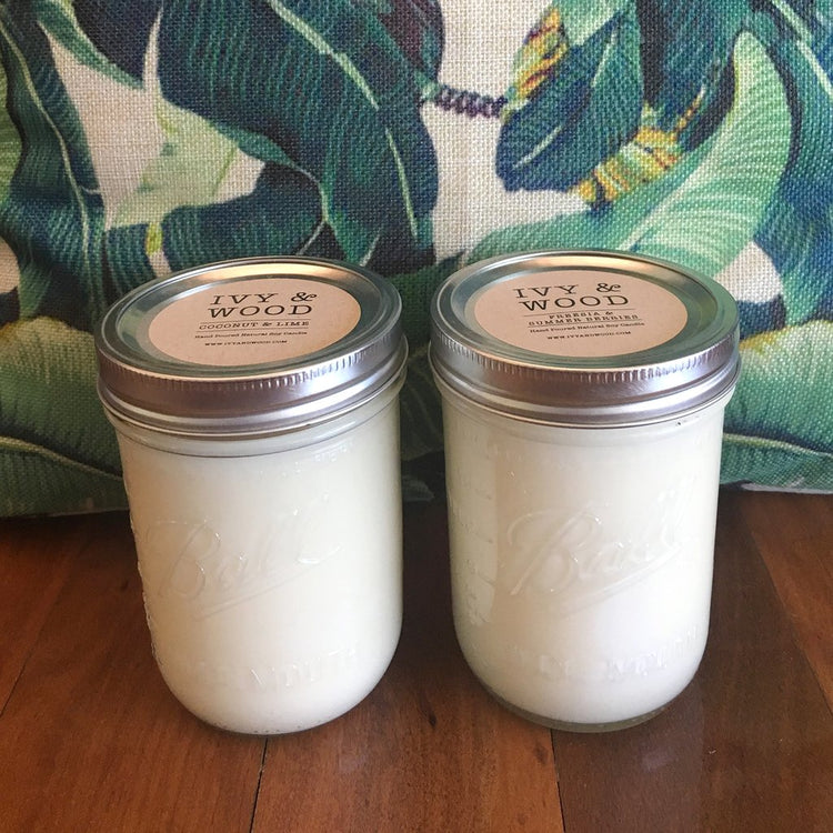 Coconut & Lime Mason Jar Soy Candle