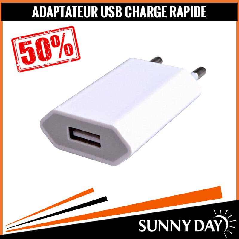 ADAPTATEUR USB CHARGE RAPIDE
