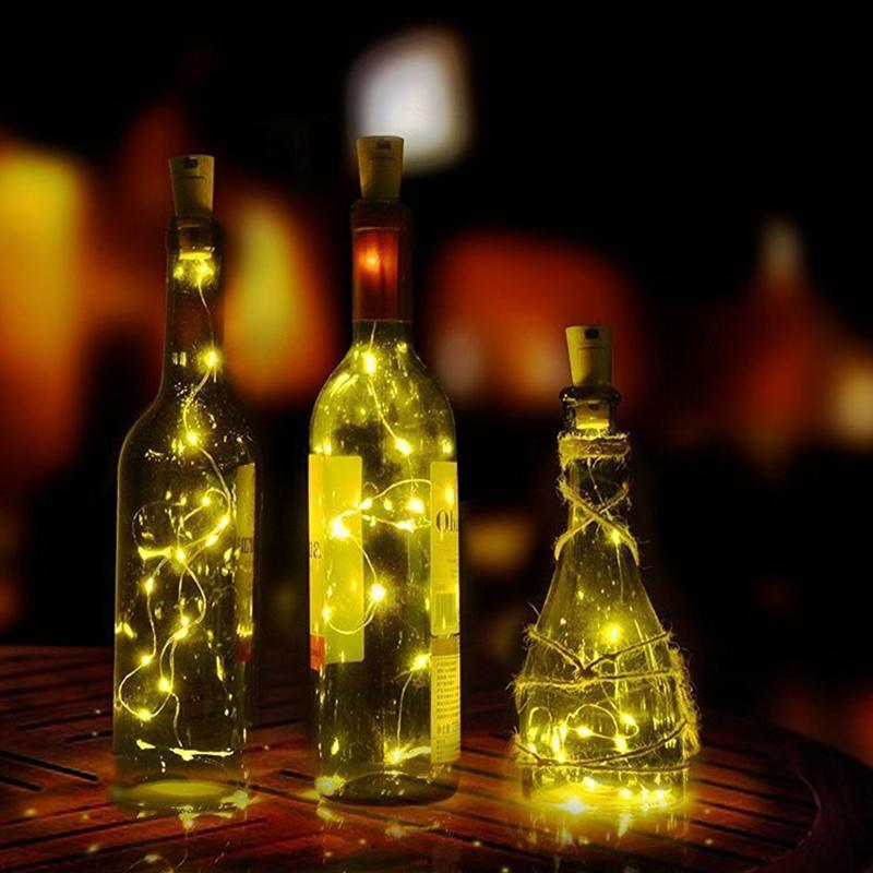 15 LEDS cork shaped wine bottle night fairy string lights
