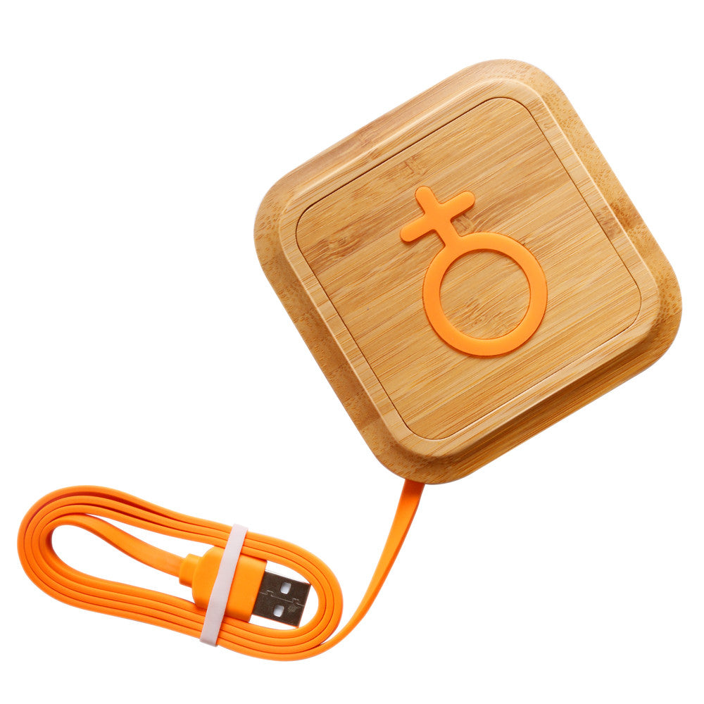 Wireless Charger Bamboo Qi Charging Pad Cell Phone Charger