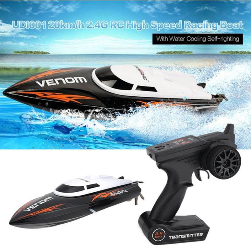 (50% OFF & Fast shipping) 20km/h 2.4G RC High Speed Racing Boat( Speedboat,Water Cooling System, Self-righting)