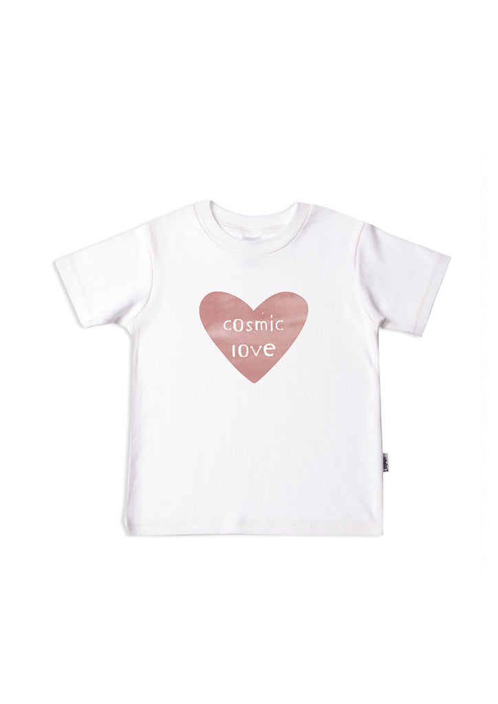 Kinder T-Shirt weiß cosmic love