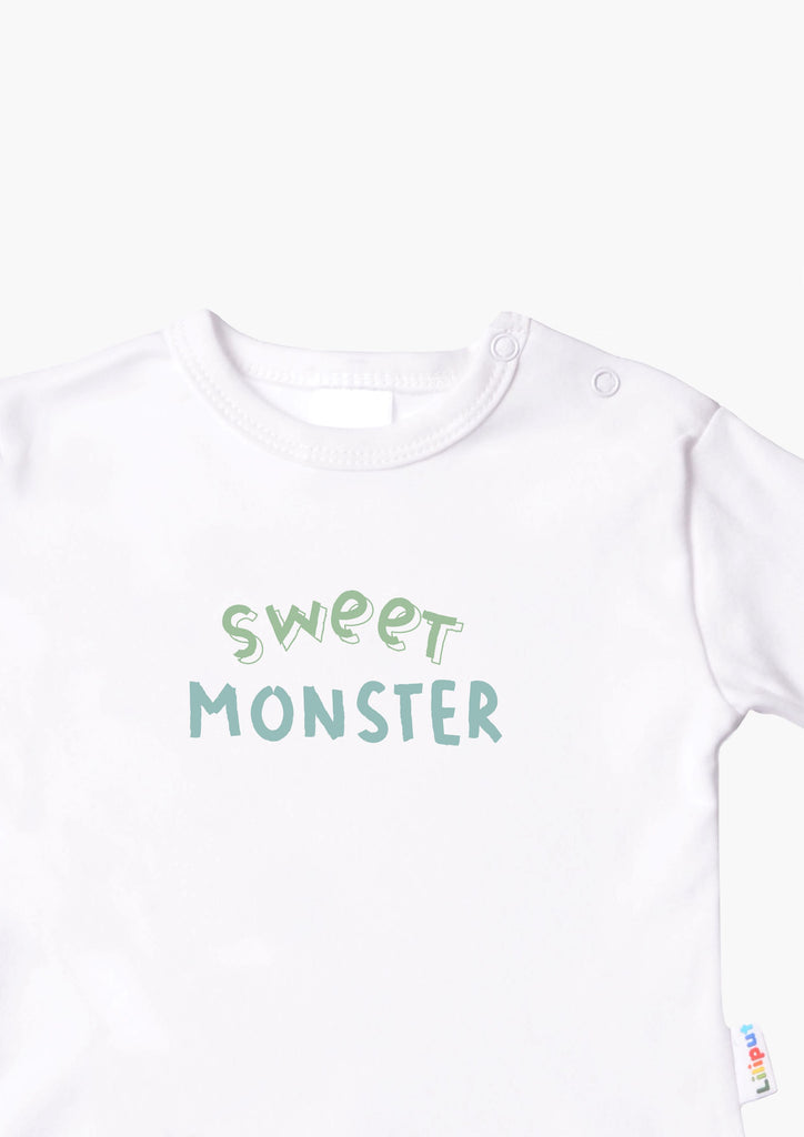 Langarmshirt weiß sweet monster