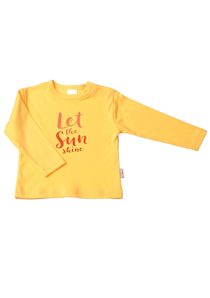 Langarmshirt gelb let the sun shine