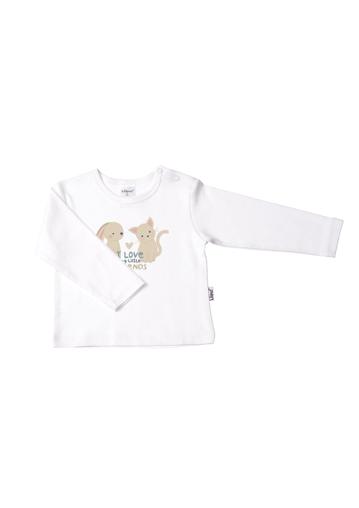 Langarmshirt Little Friends aus Bio-Baumwolle