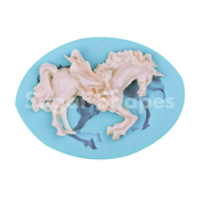 SILICONE MOULD MERRY GO ROUND HORSE