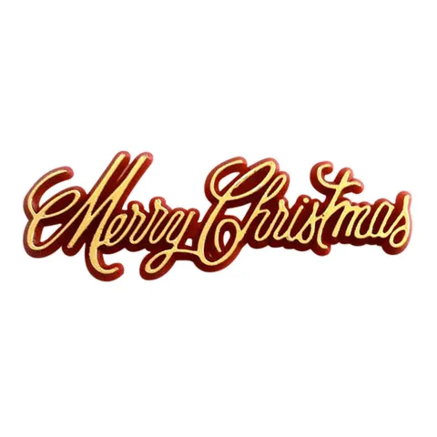 MERRY CHRISTMAS SCRIPT - RED/GOLD (144)