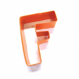 LETTER F | COOKIE CUTTER | ORANGE