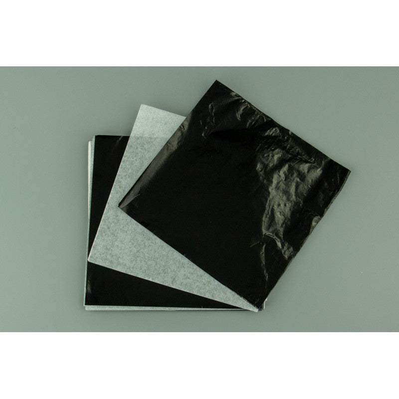 LARGE CHOCOLATE FOIL WRAP | BLACK (10 PIECE) 6X6