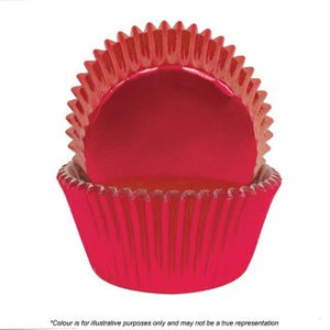 CAKE CRAFT | 700 RED FOIL BAKING CUPS | PACK OF 72