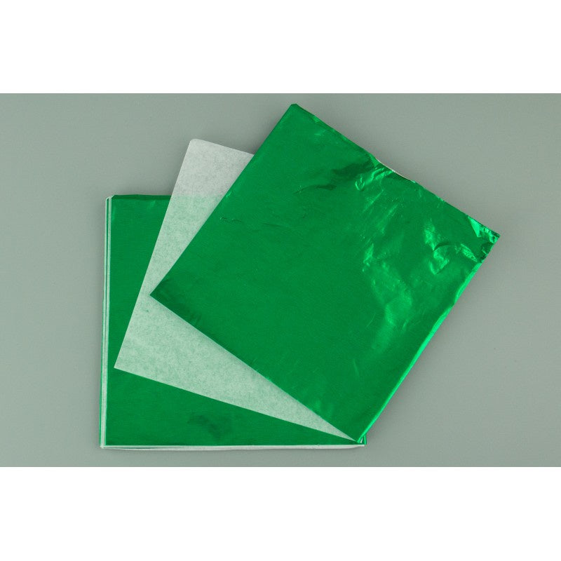 LARGE CHOCOLATE FOIL WRAP | EMERALD (10 PIECE) 6X6