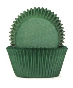 408 BAKING CUPS - DARK GREEN - 100 PIECE PACK