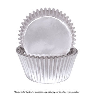 CAKE CRAFT | 408 SILVER FOIL BAKING CUPS | PACK OF 72
