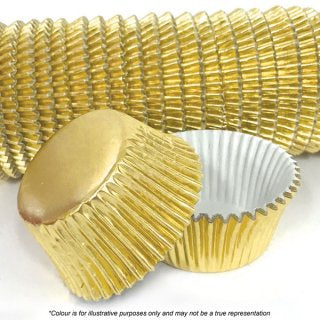 CAKE CRAFT | 408 GOLD FOIL BAKING CUPS | PACK OF 500