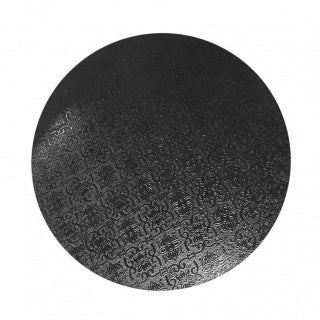 CAKE BOARD | BLACK | 6 INCH | ROUND | MDF | 6MM THICK