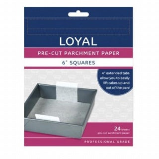 LOYAL | 6 INCH | SQUARE | PRE-CUT PARCHMENT PAPER