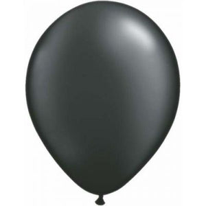 "LATEX 11"" BALLOON PEARL ONYX BLACK"