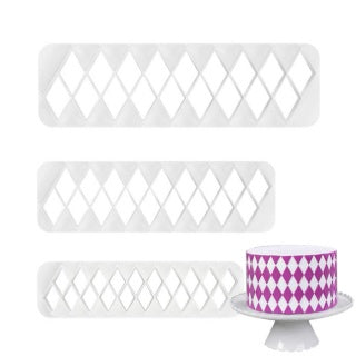 DIAMOND PATTERN IMPRESSION CUTTER SET 3 PCE