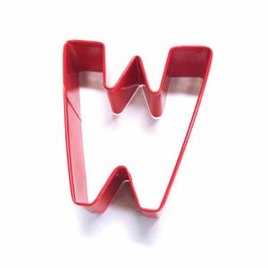 LETTER W | COOKIE CUTTER | RED