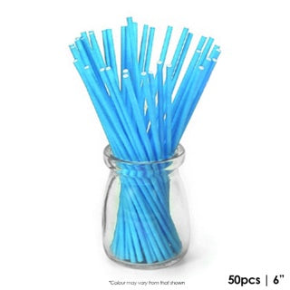 CAKE CRAFT | 6 INCH LOLLIPOP STICKS | BLUE | PACK OF 50