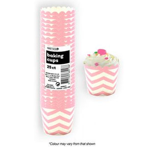 BAKING CUPS | CHEVRON LOVELY PINK |25 PCE