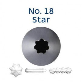 LOYAL | #18 OPEN STAR| PIPING TUBE | STAINLESS STEEL