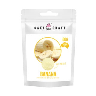 CAKE CRAFT | NATURAL DRIED FRUIT POWDER | BANANA | 50G