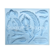 SILICONE MOULD FEATHERS ASSORTED 14PC