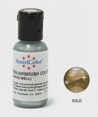 AMERICOLOUR AIRBRUSH COLOUR 0.65OZ GOLD SHEEN