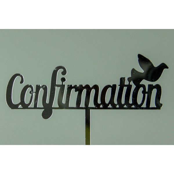 CONFIRMATION - SILVER ACRYLIC TOPPER