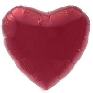 "9"" FOIL HEART RED (AIR FILL ONLY)"