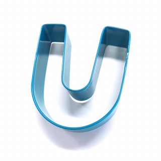 LETTER U | COOKIE CUTTER | BLUE