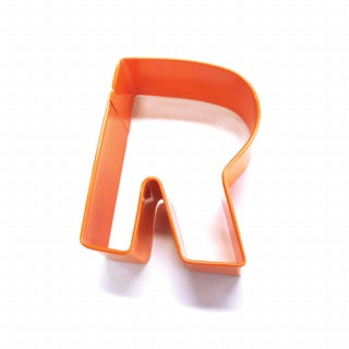 LETTER R | COOKIE CUTTER | ORANGE