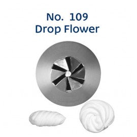 LOYAL | #109 DROP FLOWER | PIPING TUBE | STAINLESS STEEL
