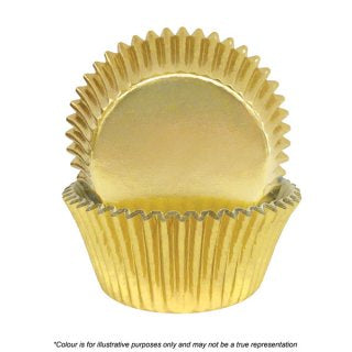 CAKE CRAFT | 408 GOLD FOIL BAKING CUPS | PACK OF 72