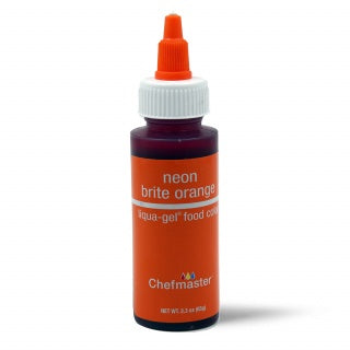 CHEFMASTER | NEON BRIGHT ORANGE | LIQUA-GEL FOOD COLOUR | 2.3 OZ/65 GRAMS
