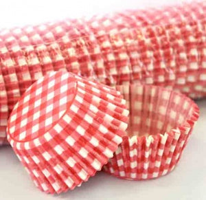 408 BAKING CUPS - RED GINGHAM - 100 PIECE PACK