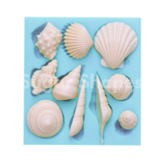 SILICONE MOULD SEASHELL ASSORTED 10PC