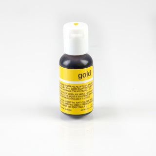 CHEFMASTER | GOLD | LIQUA-GEL FOOD COLOUR | 0.70 OZ/20 GRAMS