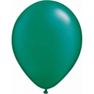 "LATEX 11"" BALLOON PEARL EMERALD GREEN"