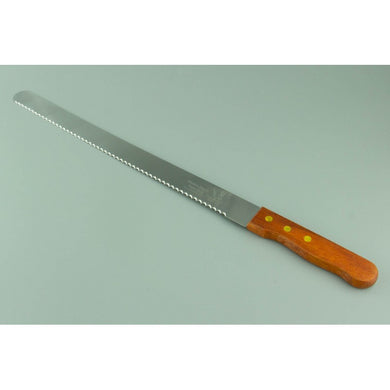 12 INCH CAKE SLICER KNIFE WITH NARROW SERRATED TEETH