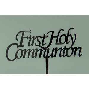 FIRST HOLY COMMUNION - SILVER ACRYLIC TOPPER