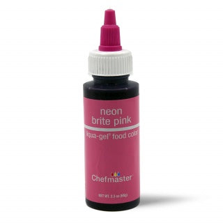 CHEFMASTER | NEON BRIGHT PINK | LIQUA-GEL FOOD COLOUR | 2.3 OZ/65 GRAMS