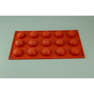 15 CUP HEMISPHERE SILICONE MOULD