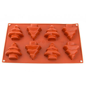 8 CAVITY CHRISTMAS TREE SILICONE MOULD