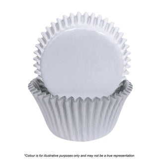 CAKE CRAFT | 408 WHITE FOIL BAKING CUPS | PACK OF 72
