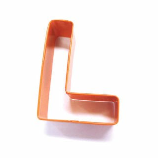 LETTER L | COOKIE CUTTER | ORANGE